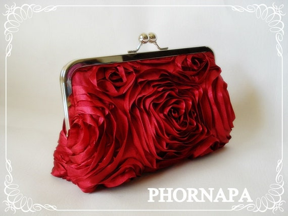 SALE Mother's Day Gift The Romantic Rosette Clutch Ready to Ship