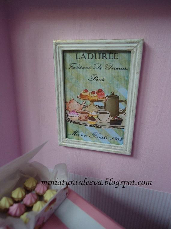 Framed picture (Ladurée). 1/12th scale