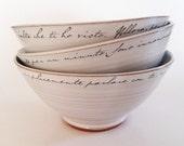 Love letter bowl, white