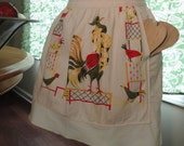 Classic Rooster Vintage Apron