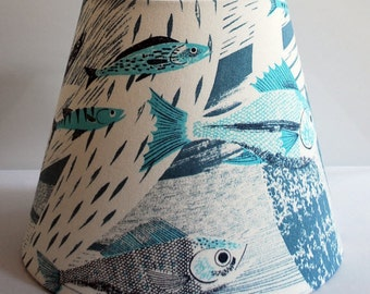 Deep Sea Modern Tapered Drum Lampshade