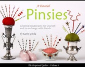 Pinsies, Beaded Pin Tutorial, Pincushion Decoration, Friendship Pins, Pinsy, pdf, How to