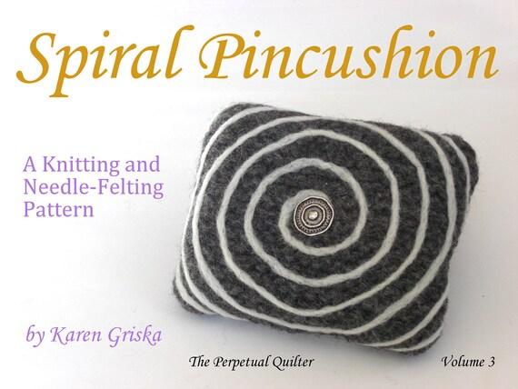 Knitting Without Needles Pdf : Items similar to spiral pincushion pattern pdf knitting