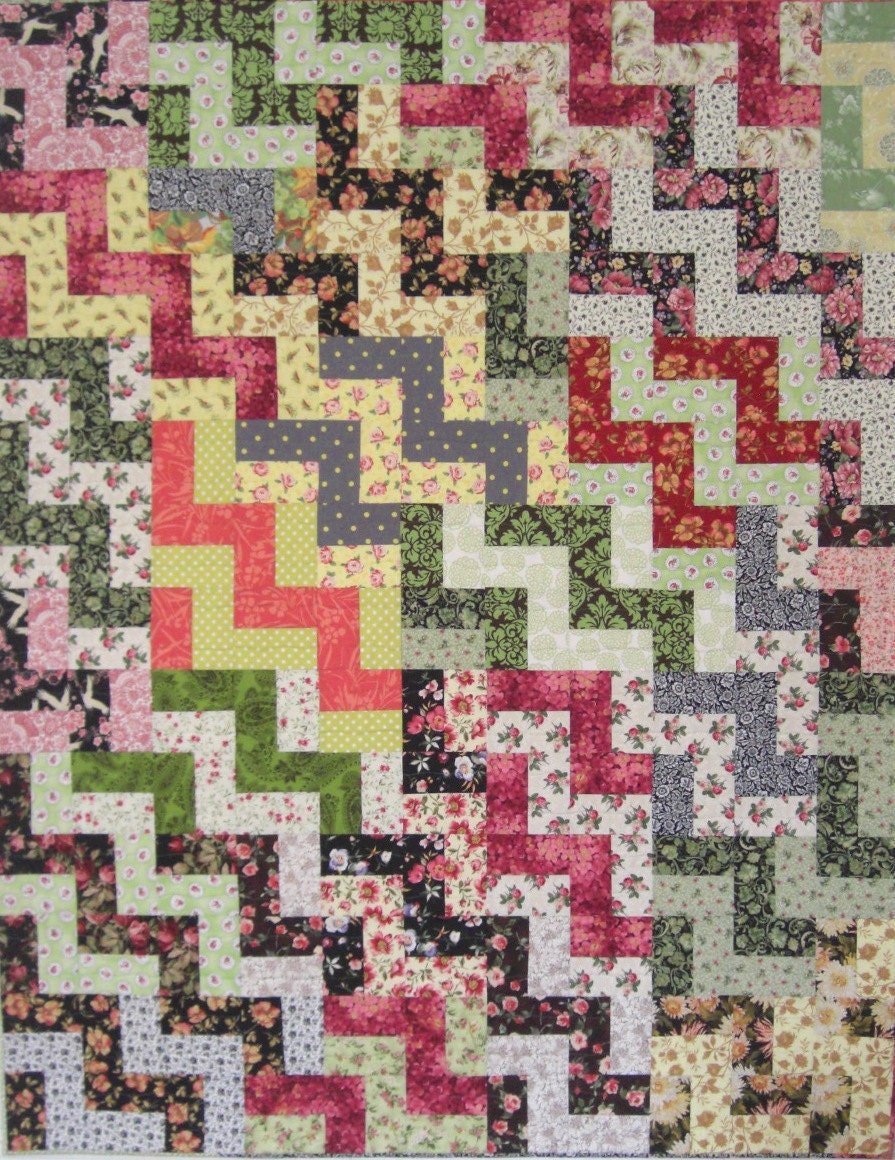 Classic Staircase Quilt Twin Bed Or Large By Karengriskaquilts