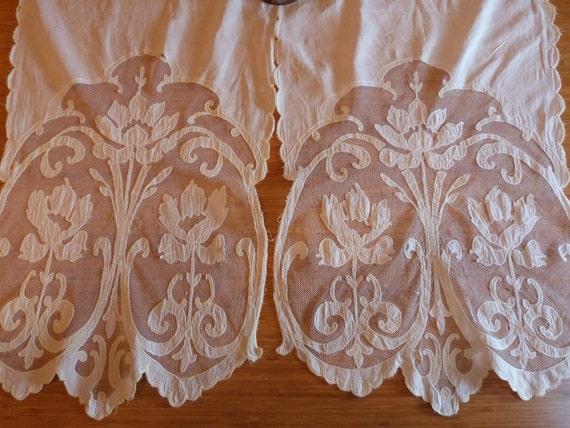 Art Nouveau Curtains Tambour Lace Window Curtain Drapes Long