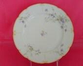 Lavender IRIS FLORAL  LIMOGE Plate x