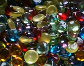 "Bohemian Collection of Flat Backed Nuggets and Gems 3/4"" Round & 1/2"" Round 50ct.-  Larger Project Package"