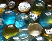Peacock Collection of Gems, Nuggets, Flat Backed 30ct. Peacock Blue, Olive Green, Clear