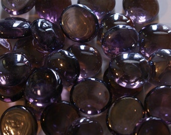 Lilac/Lavender Gems Nuggets, Flat Backed  Mosaic Tiles/Glass/Cabochons 50 ct.