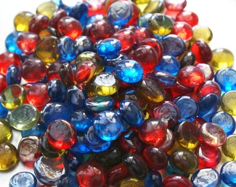 """Mediterranean Jewels Collection  -  Mini Mix Flat Backed 1/2"""" Gems Mosaic Nuggets - 50 ct. Package"""