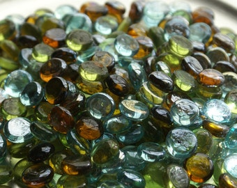 """Tuscan Elegance Collection  -  Mini Mix Flat Backed 1/2"""" Gems Mosaic Nuggets - 50 ct. Package"""