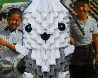 3D Origami Pochacco puppy   Kit