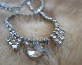 Rhinestone Necklace. Vintage costume jewlery. Old Hollywood Glamour. Rhinestone Jewelry. Pin Up. Burlesque. Marilyn Monroe.