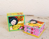 Vintage Oriental Pinup Girl Cosmetic Box