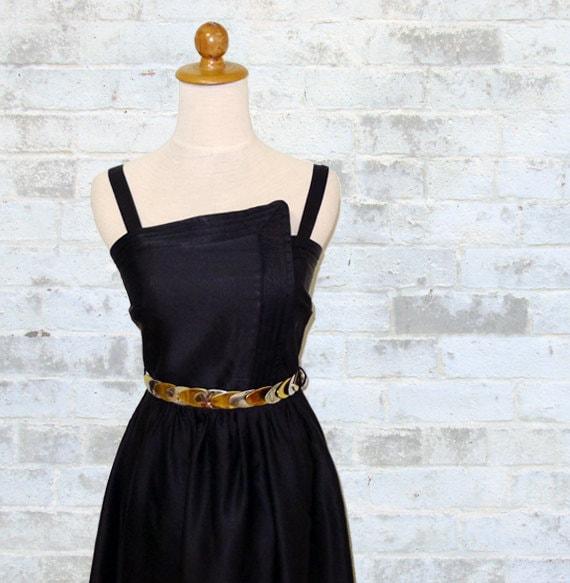 Vintage 80's Avant Garde Little Black Dress XS or S