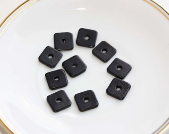 Wood Beads, Square Wood Beads, Square Beads (10x)