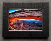 "Mesa Arch Sunrise - 7"" x 10.5"" Framed ART"