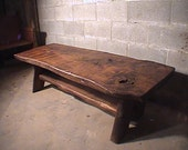 Red Oak slab coffee table kit