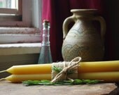 "Beeswax Candles - 10"" Round Taper Pair"