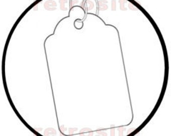 200 WHITE Size 7 Large Merchandise Price Tags BLANK with Strings STRUNG