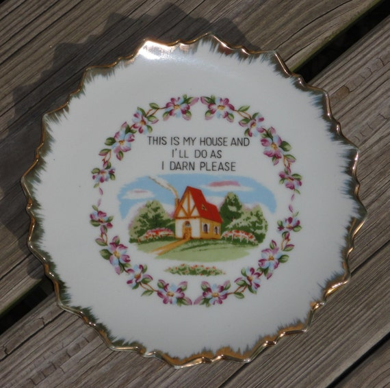 End of clearance sale, Vintage decorative plate,