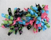 Butterfly Korker Bow: Pink Black Green Blue SPECIAL PRICE because they come in a set