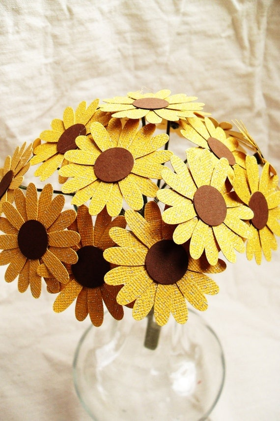 Sunflower Bouquet - Flower-girl, centerpiece, wedding