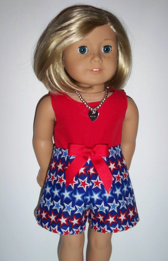 Cute Patriotic Outfit- American Girl Doll Clothes