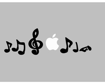 Musical notes decal: For Laptop, Car etc..