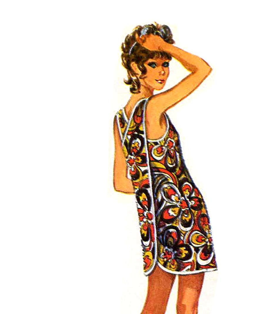Jiffy Mod 70 S Back Cross Strap Beach Cover Up Or Apron