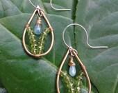 RESERVED Helouise Aquamarine and Peridot Earrings