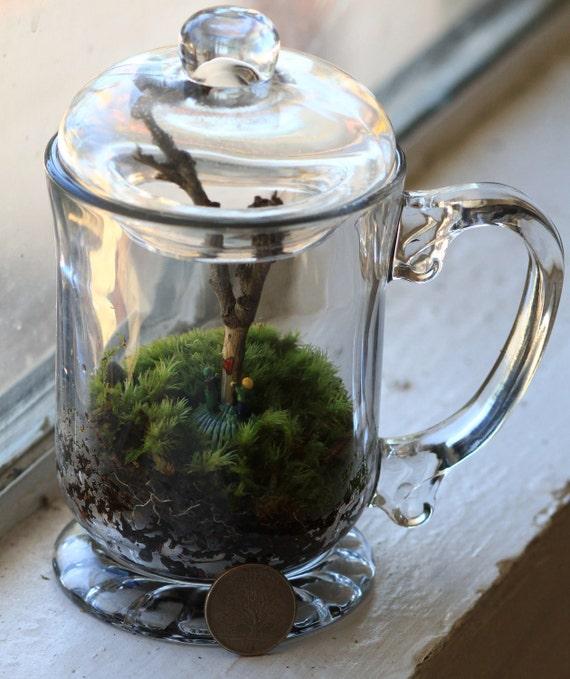 In the Forest - Living Terrarium and Miniature Sculpture