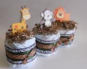 Jungle Diaper Cake Micro Minis - Set of Three