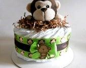 Monkey Baby Shower Diaper Cake Mini
