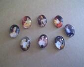 Victorian Ladies Cabochons- 8 pieces