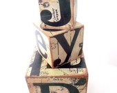 Faux Vintage Typographic Blocks
