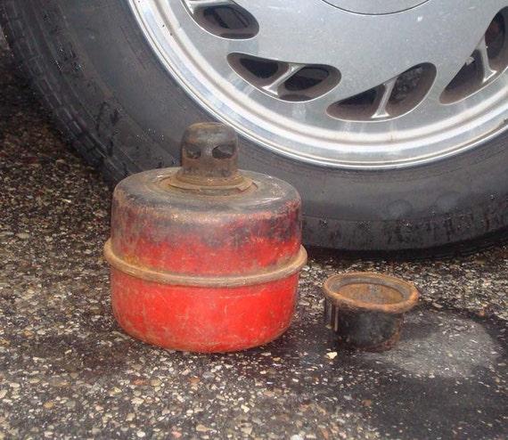 SALE----Vintage Kerosene Smudge Pot / Road Flare