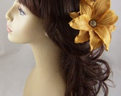 Amber Silk Tiger Lily Hair Stick Set