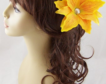 Golden Yellow Tiger Lily Hair Stick Set