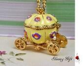 Cinderella's pumpkin carriage necklace