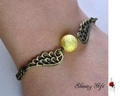 Golden Snitch Bracelet with wings