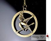 Hunger Games Logo Pendant Necklace-Inspired Mockingjay,arrow Necklace
