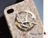 The Hunger Games Mockingjay Logo iPhone 4/4S case, Apple iPhone 4 Case, iPhone 4s Case-Wooden Look Iphone Case