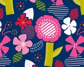 Bold Graphic Blooms Original Print