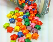 Multi-colored Origami Lucky Stars Jar