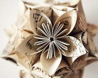 Music Note Kusudama Flower Ball Ornament