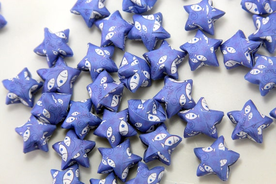 Blue Pisces Fish Lucky Stars