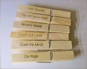 Do Yoga Clothes Pin Studio Decor For Students or Teachers