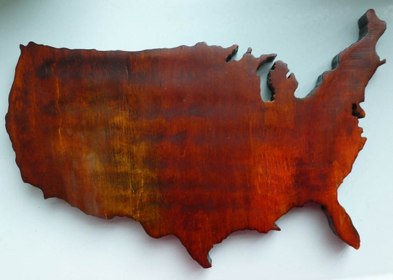 America the Beautiful in Exquisite Detail, Intricately Cut Reclaimed Wood CHK