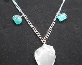 Sea Glass Pendant and Charm Necklace